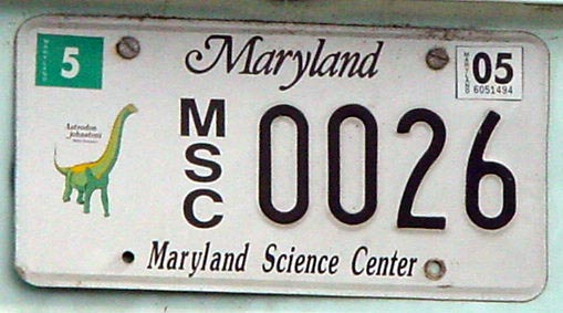 how to read maryland license plates