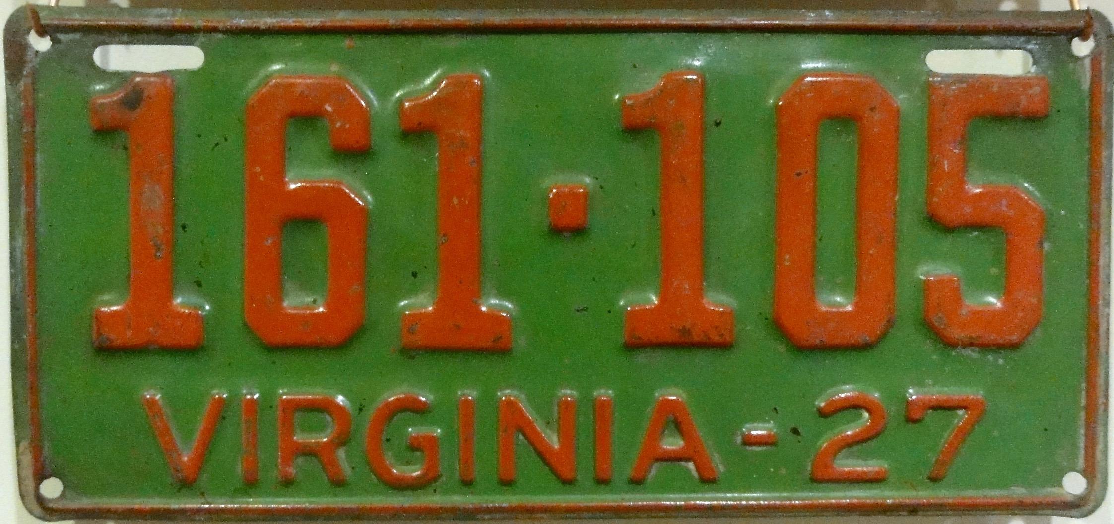 Virginia License Plates 1906